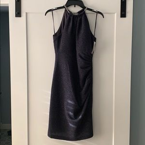 Charcoal dress for a night out with girlfriends!